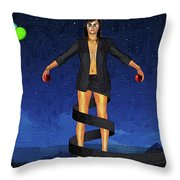 Balloons And Surrealism Throw Pillow