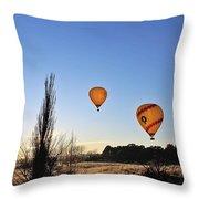 Balloons At Sunrise Throw Pillow