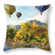 Balloons At Twin Lakes Throw Pillow