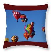 Balloons In Albuquerque Throw Pillow