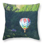 Balloons Over Letchworth Throw Pillow