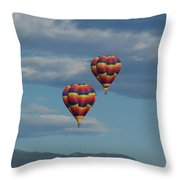 Balloons Over The Rockies Throw Pillow