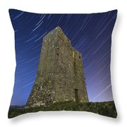 Ballybrit Castle Star Trails Throw Pillow