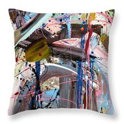 Balmy Nights Abstract Throw Pillow