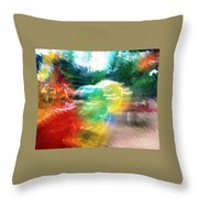 Baloons N Lights Throw Pillow