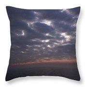 Baltic Sea, Sunset Throw Pillow