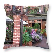 Baltimore Cafe          By  Jean Carton Throw Pillow