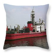 Baltimore Fire Boat 2003 Throw Pillow