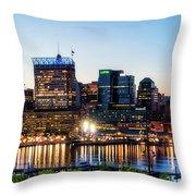 Baltimore Inner Harbor Reflections Throw Pillow