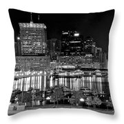 Baltimore Lights Up Brightly Throw Pillow