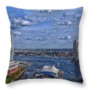 Baltimore Maryland Inner Harbor Throw Pillow