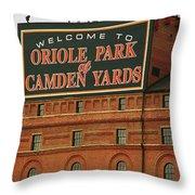 Baltimore Orioles Park At Camden Yards Throw Pillow