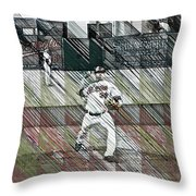 Baltimore Orioles Pitcher - Chris Tillman - Spring Training Throw Pillow