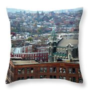 Baltimore Rooftops Throw Pillow by Carol Groenen
