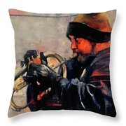 Baltimore Street Musician Throw Pillow