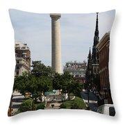Baltimore Streetscene Throw Pillow