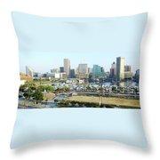 Baltimore's Inner Harbor Throw Pillow