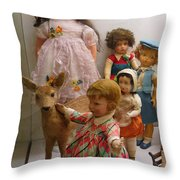 Bambi And Baby Throw Pillow