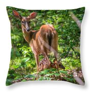 Bambi's Mom Throw Pillow