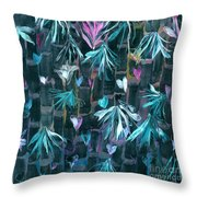 Bamboo And Butterflies Throw Pillow