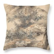 Bamboo And Plum In Early Spring Throw Pillow