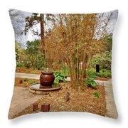 Bamboo At The Botanical Gardens Throw Pillow