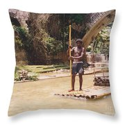 Bamboo Boat Throw Pillow