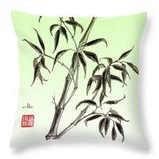 Bamboo Drawing  Throw Pillow