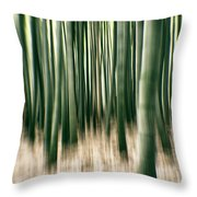 Bamboo Forest Throw Pillow