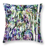 Bamboo Forest Background Throw Pillow
