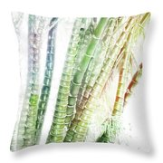 Bamboo Forest Watercolor Throw Pillow