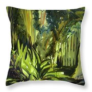 Bamboo Garden I Throw Pillow