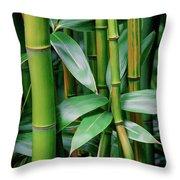 Bamboo Green Throw Pillow
