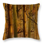 Bamboo Heaven Throw Pillow by Bedros Awak