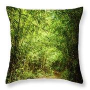 Bamboo Hike Throw Pillow