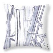 Bamboo Shade Throw Pillow