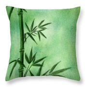 Bamboo Throw Pillow by Svetlana Sewell