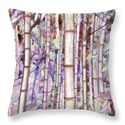 Bamboo Texture Throw Pillow