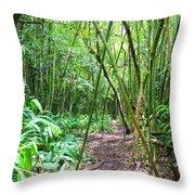 Bamboo Trail Throw Pillow