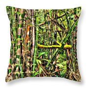 Bamboo View Throw Pillow