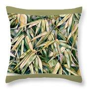 Bamboo2 Throw Pillow