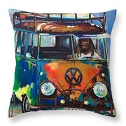 Bamf-vw Microbus Throw Pillow