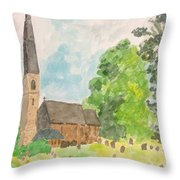 Bamford Church And Serenity Of Nature Throw Pillow