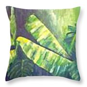 Banan Leaf Throw Pillow by Carol P Kingsley