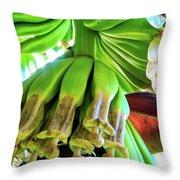 Banana Bells Throw Pillow
