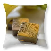 Banana Chocolate Throw Pillow