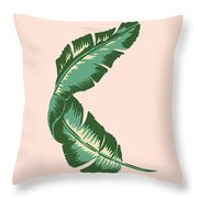 Banana Leaf Square Print Throw Pillow