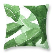 Banana Leaves  3 Throw Pillow