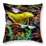 Banana Slug Throw Pillow