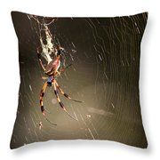 Banana Spider Throw Pillow